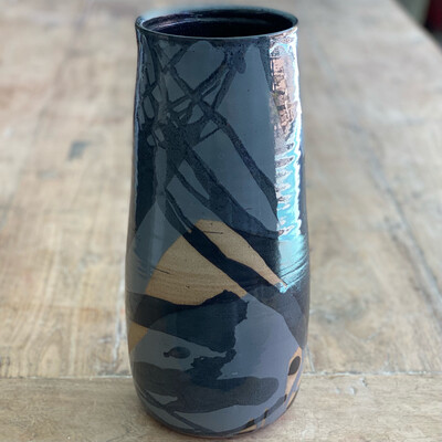 Tall abstract vase