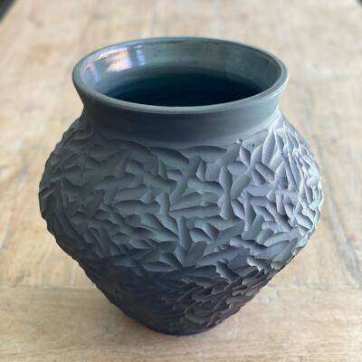 Large Carved Pot
