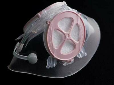 M/S mask with nose-clip (Healthy Pink)