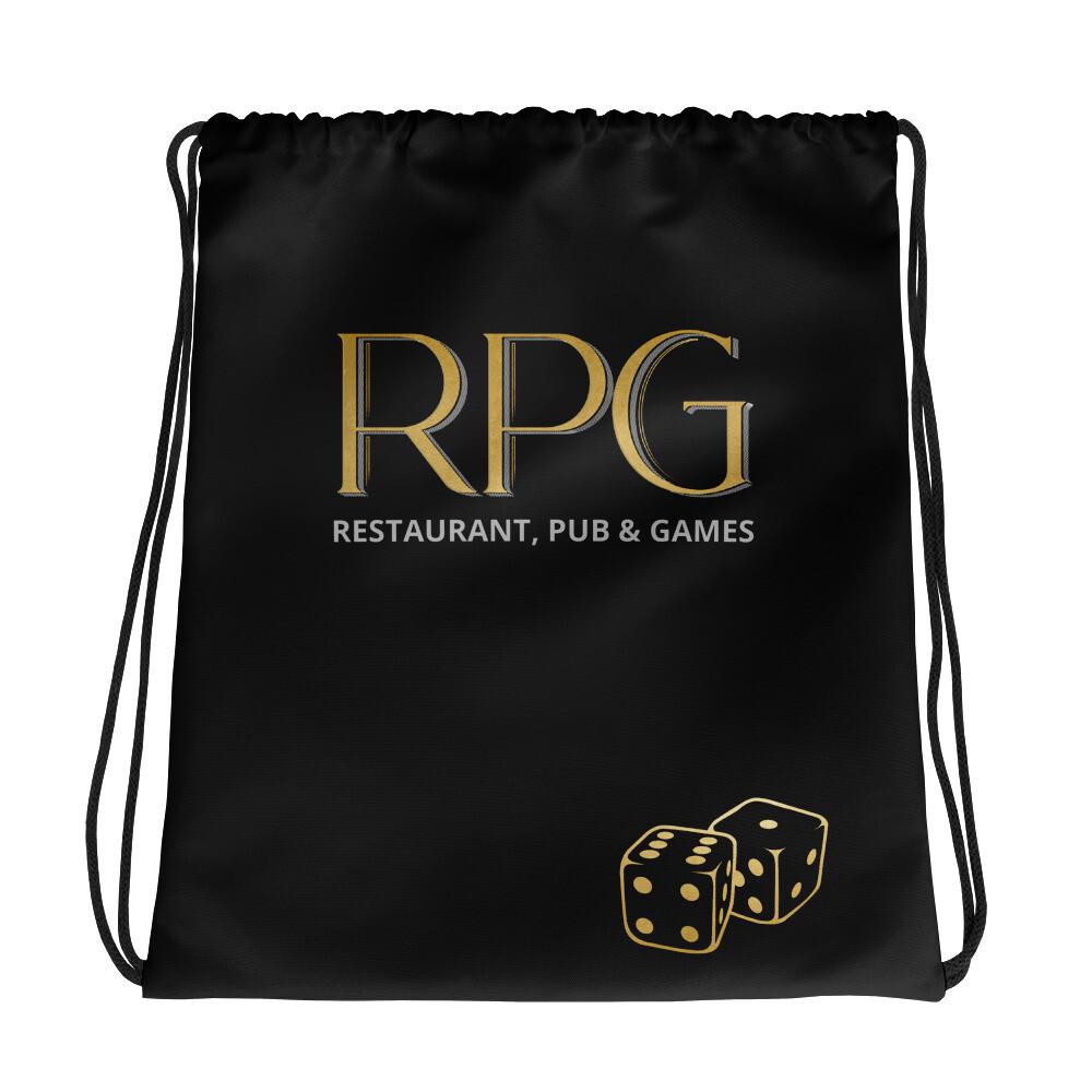 RPG Logo, Black Drawstring bag