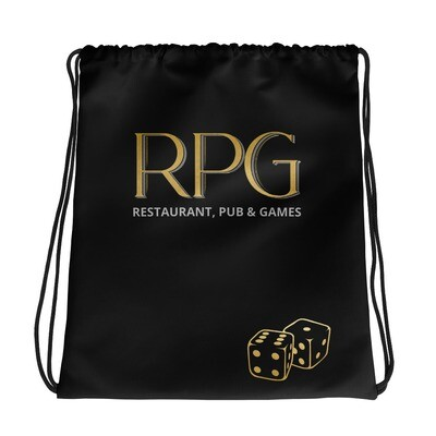 RPG Logo, Black Drawstring bag