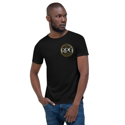 RPG Logo, Men's Raw Neck Tee