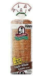 Aunt Millie Light Whole Grain Bread 35 calorie