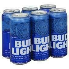 Bud Light 6 Pk Can 16 oz