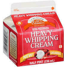 CF Burger Heavy Whipping Cream 8 oz