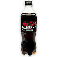 Coke Zero 16 oz plastic bottle