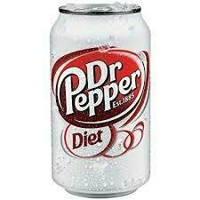 Diet Dr Pepper 12 oz can