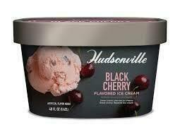 Hudsonville Black Cherry Ice Cream 49 oz