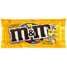 M&Ms Peanut Bag