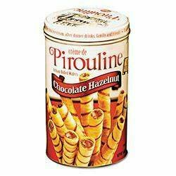 Pirouline Chocolate Hazelnut Wafers 14 oz (in Tin Can)