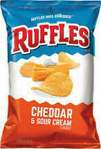 Ruffles Cheddar and Sour Cream Potato Chips 8.5 oz