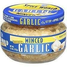 Spice World Garlic minced 4.5oz jar