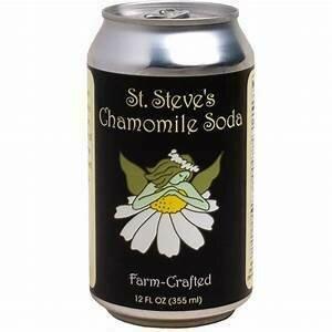 St Steve's Chamomile Soda 12 oz can