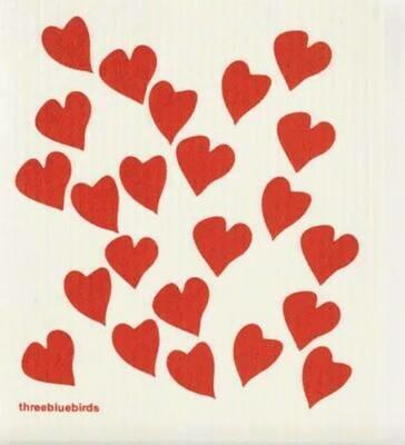 Hearts Swedish Dishcloth