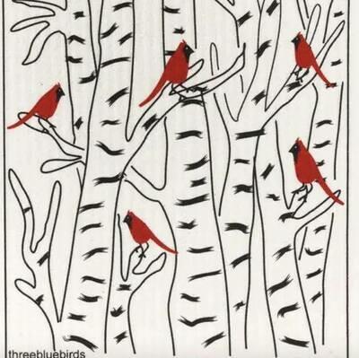 Cardinals Swedish Dishcloth