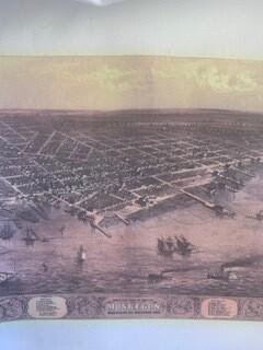 1800s Muskegon Dishtowel