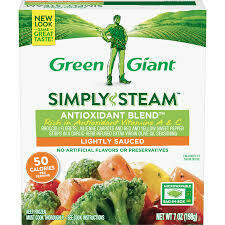 Green Giant Antioxidant Blend 7 oz (Broccoli, carrots, red & yellow peppers in garlic Herb