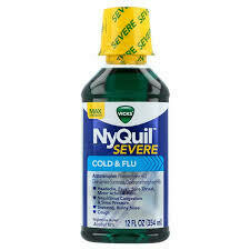 Nyquil Severe Cold and Flu Liquid 12 oz