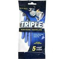 Triple 3 blade razor 5 pack