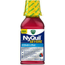 Nyquil Severe Cold & Flu Liquid 8 oz