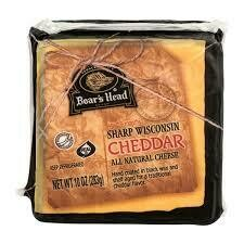 Wisconsin Sharp Cheddar 10 oz  Block Boar's Head