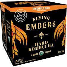 Flying Embers Hard Kombucha Pineapple Chili 6 Pk