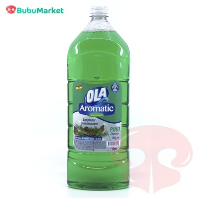 LIMPIADOR DESINFECTANTE OLA AROMATIC PINO DE 1800 ML.
