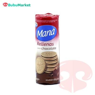 GALLETAS ARCOR MANA RELLENAS CHOCOLATE 165 GR.