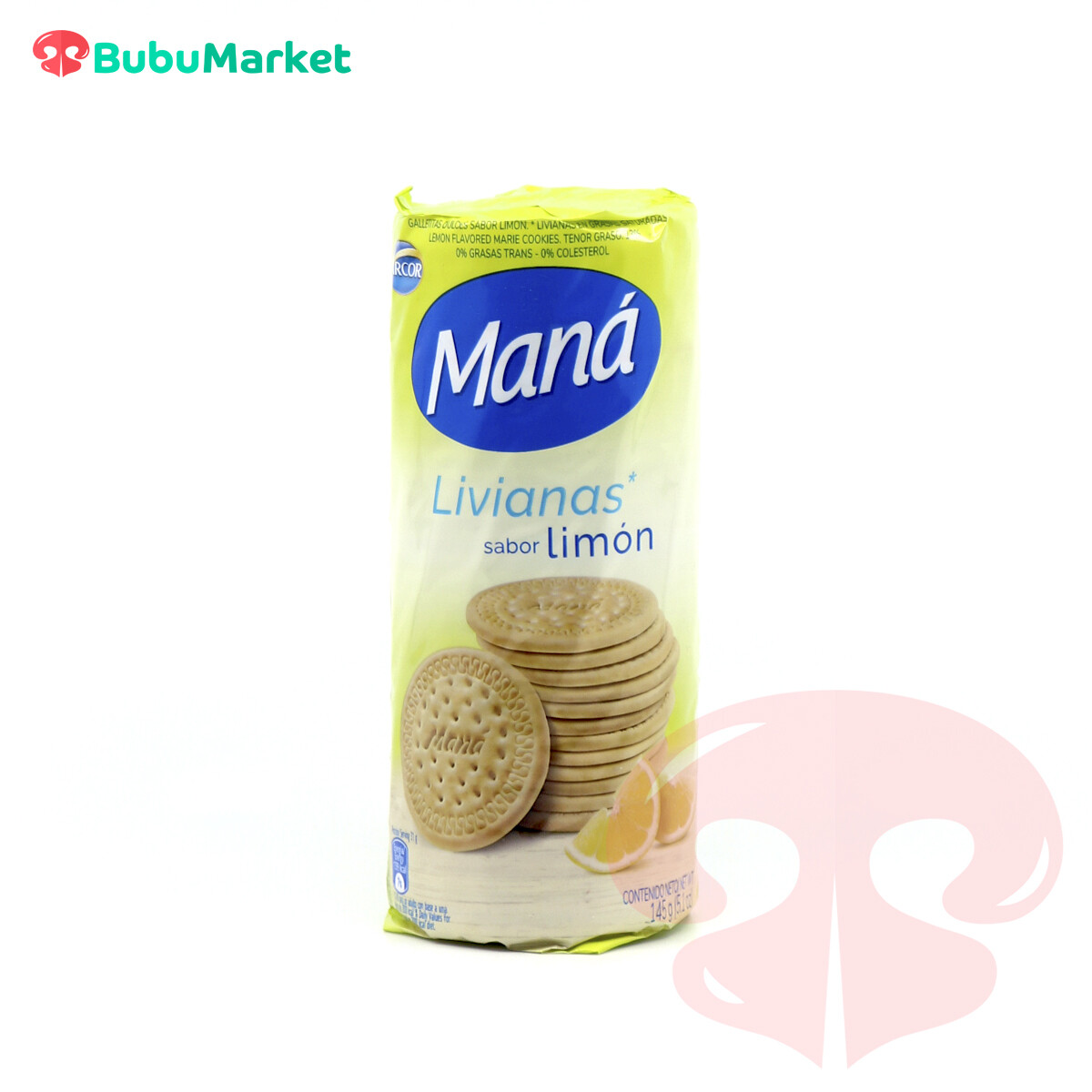 GALLETAS ARCOR MANA LIVIANAS SABOR LIMON 145 GR.