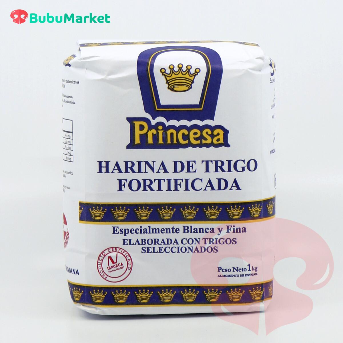 HARINA DE TRIGO FORTIFICADA PRINCESA DE 1 KG.