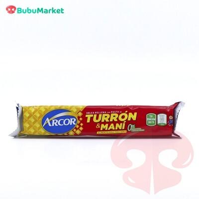 OBLEA RELLENA CON PASTA DE TURRON Y MANI ARCOR 25 GR.