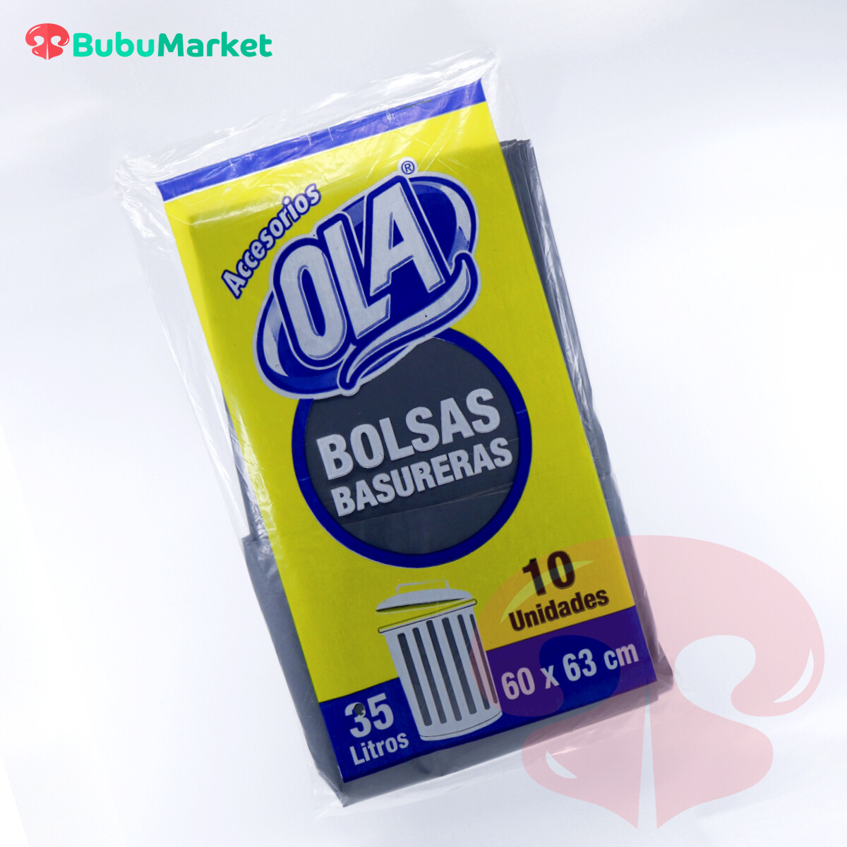 BOLSAS OLA PARA BASURA 35 LT. (60cm. x 63cm.) PAQ. DE 10 U.