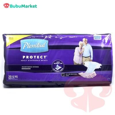 PAÑAL PLENITUD PROTECT TALLA G/XG DE 20 U.