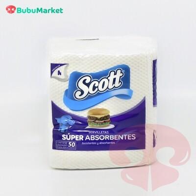 SERVILLETAS SCOTT SUPER ABSORVENTES 50 U.