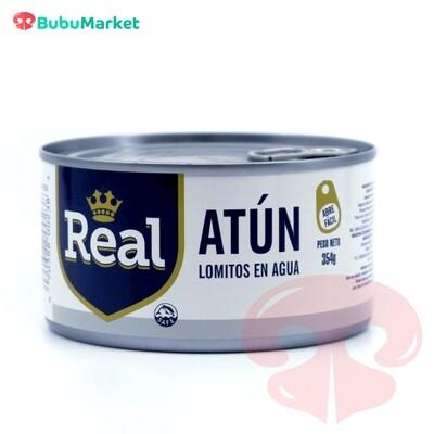 ATUN REAL LOMITOS EN AGUA 354 GR.