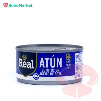ATUN REAL LOMITOS EN ACEITE DE SOYA 185 GR.
