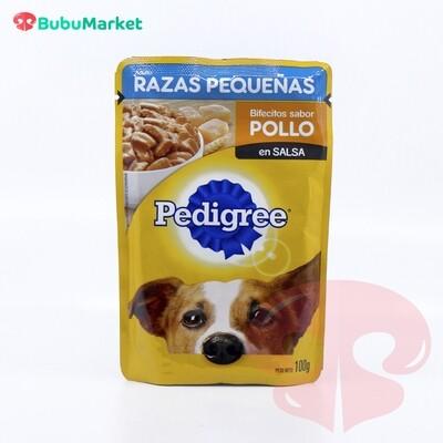 BIFECITOS SABOR POLLO PEDIGREE RAZAS PEQUEÑAS SACHET DE 100 GR.