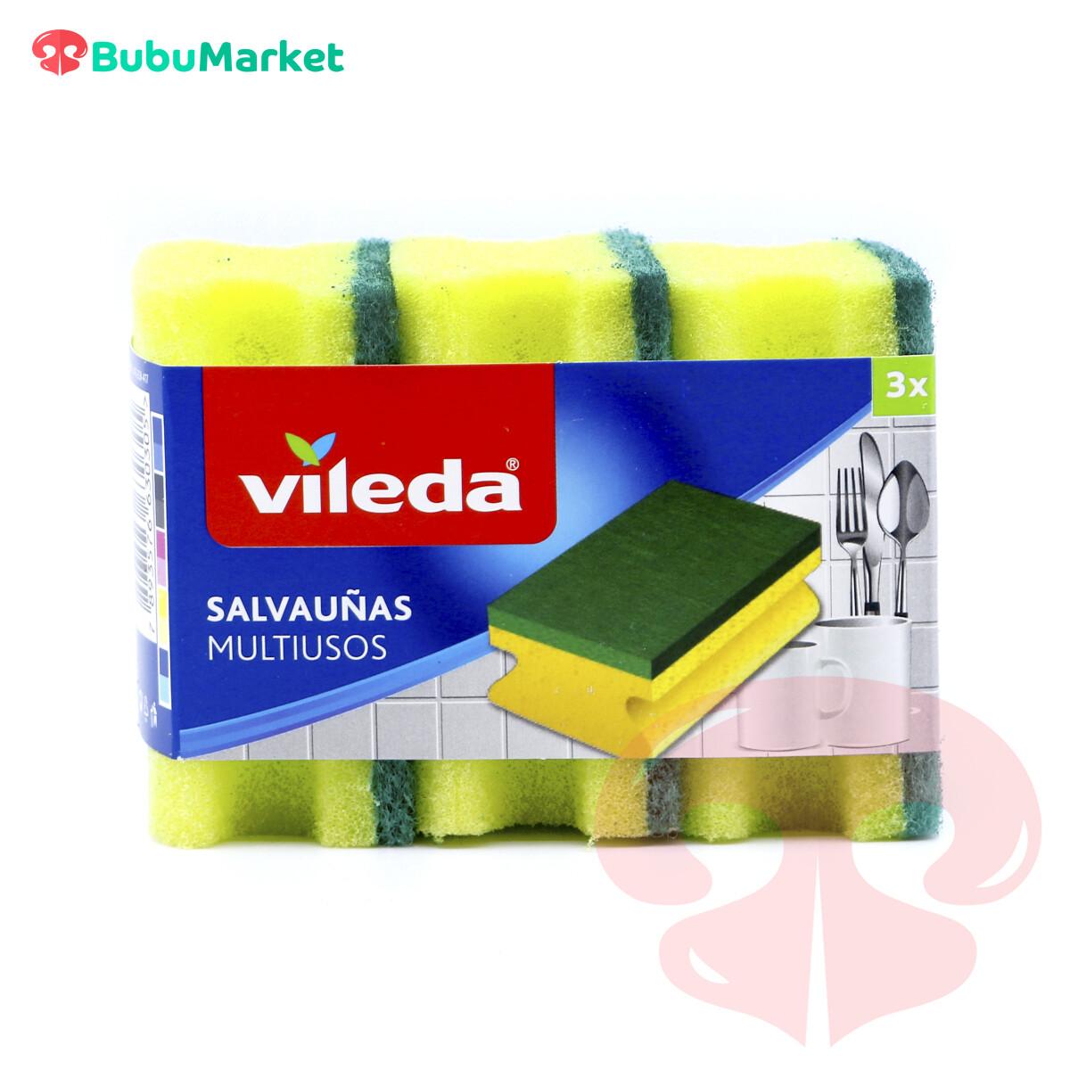 ESPONJA VILEDA SALVAUÑAS MULTIUSOS PACK DE 3 U.
