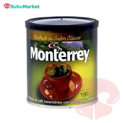 CAFE MONTERREY CON CARAMELO Y CEBADA LATA DE 190 GR.