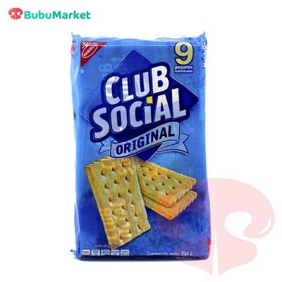 GALLETAS CLUB SOCIAL ORIGINAL PACK DE 9 U.