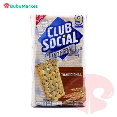 GALLETAS CLUB SOCIAL INTEGRAL PACK DE 9 U.