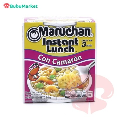 SOPA INSTANTANEA MARUCHAN INSTANT LUNCH  SABOR CAMARON DE 64 GR.
