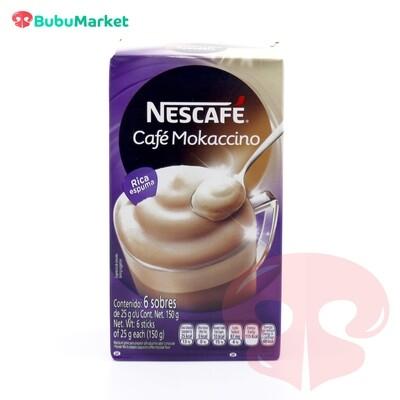 NESCAFE CAFE MOKACCINO CAJA DE 6 SOBRES DE 25 GR.