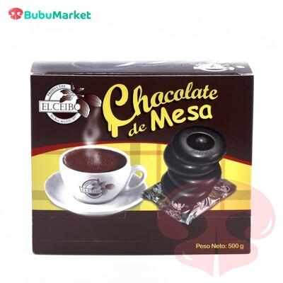 CHOCOLATE DE MESA BOLLO DE COCINA CEIBO CAJA DE 500 GR.