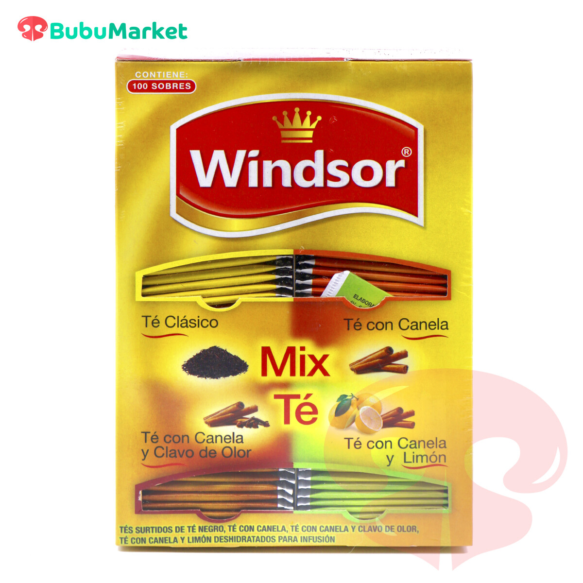 MIX TE WINDSOR CAJA DE 100 U.