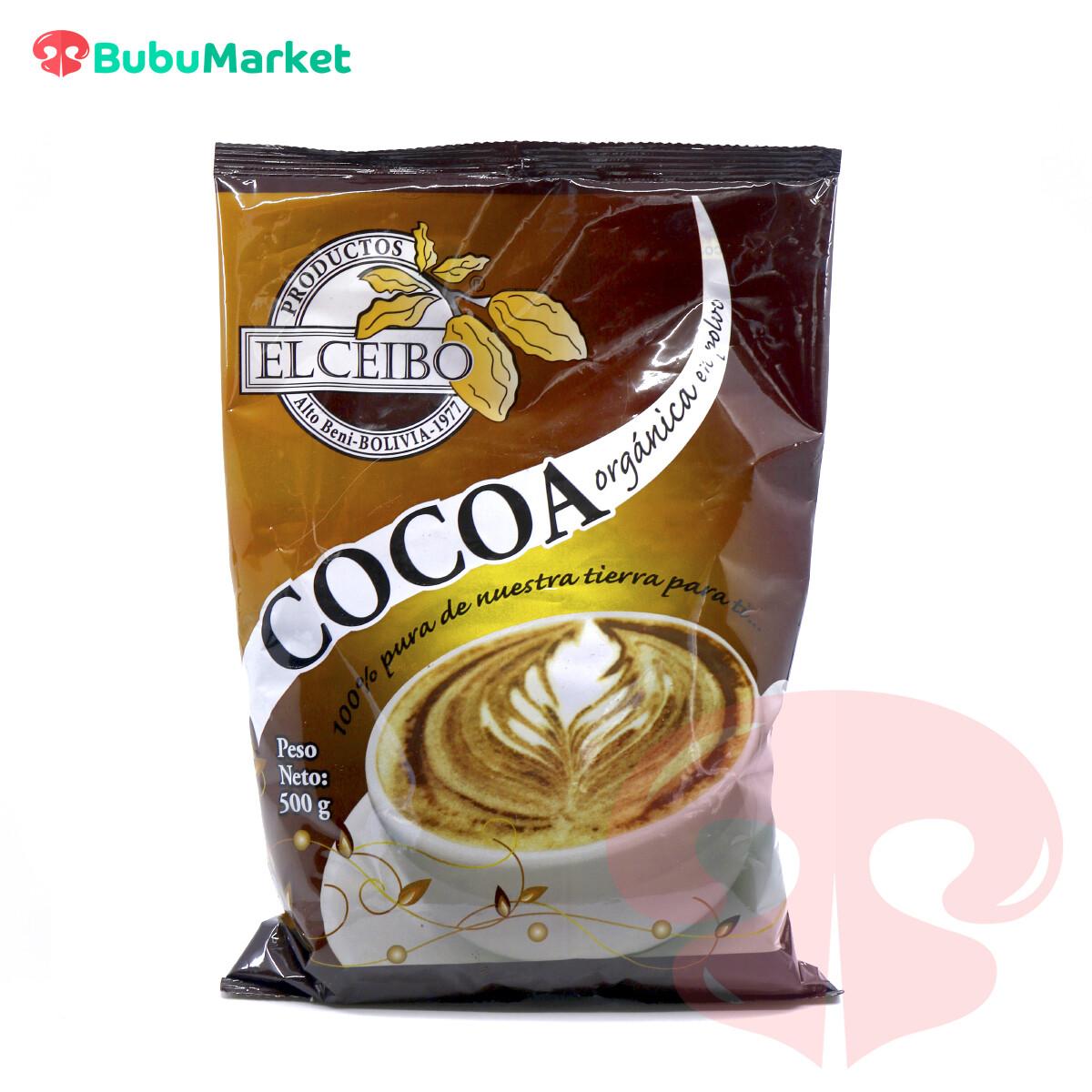 COCOA ORGANICA EL CEIBO BOLSA DE 500 GR.