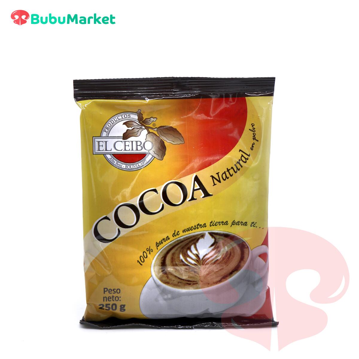 COCOA NATURAL EL CEIBO BOLSA DE 250 GR.