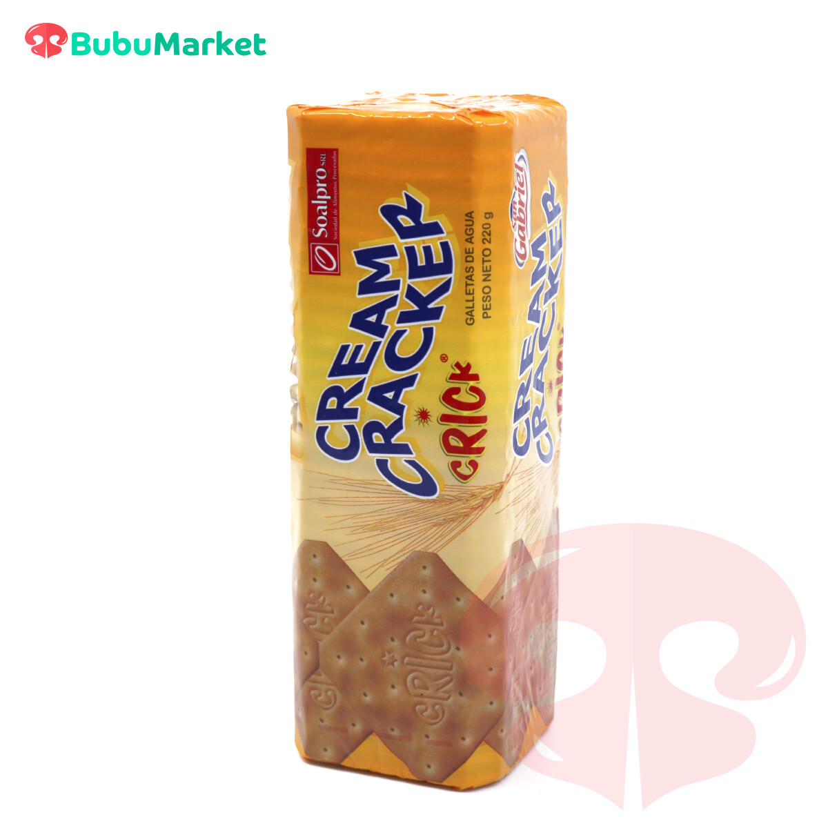 GALLETAS DE AGUA SAN GABRIEL CRICK CREAM CRACKER DE 220 GR.