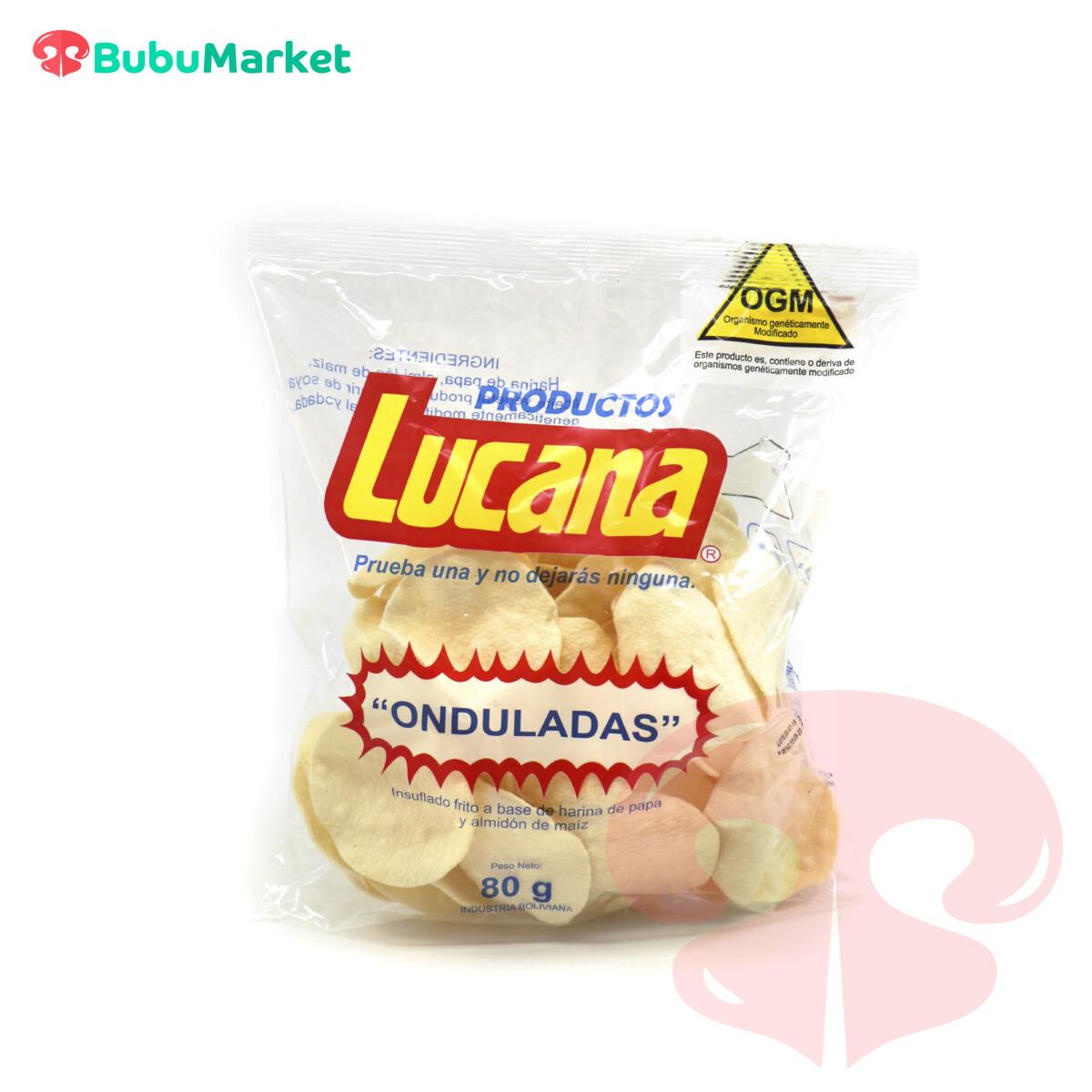 PAPAS ONDULADAS LUCANA BOLSA DE  80 GR.