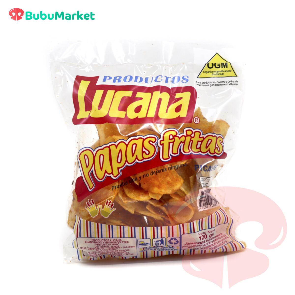 PAPAS FRITAS PICANTES LUCANA BOLSA DE  120 GR.